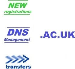.ac.uk domain names DNS lookup